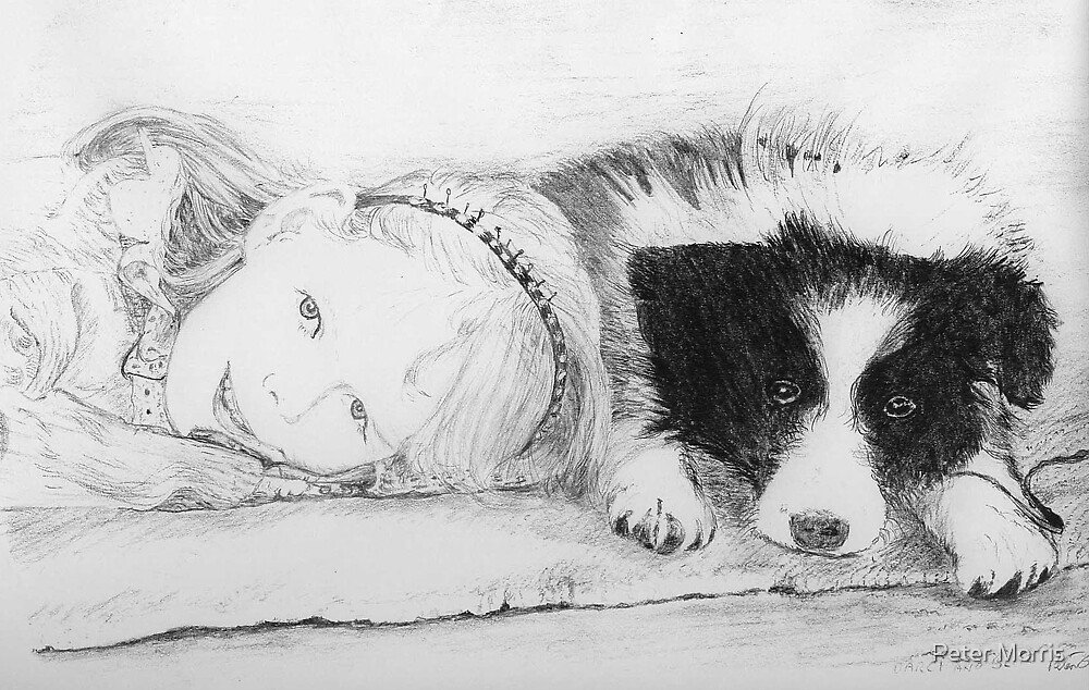 """""""Darcy and Blitz"""" by Peter Morris"""