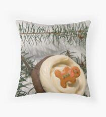 Holiday Cupcake Throw Pillow