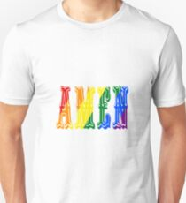 Gay (LGBTQ) Christian Pride Rainbow Amen God Jesus Faith T-Shirt