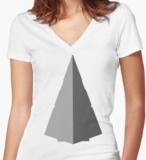 Super Star Destroyer Women's Fitted V-Neck T-Shirt