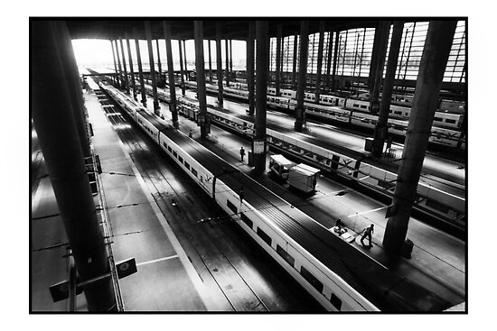 Atoche Train Station Madrid A to B by Philip  Rogan