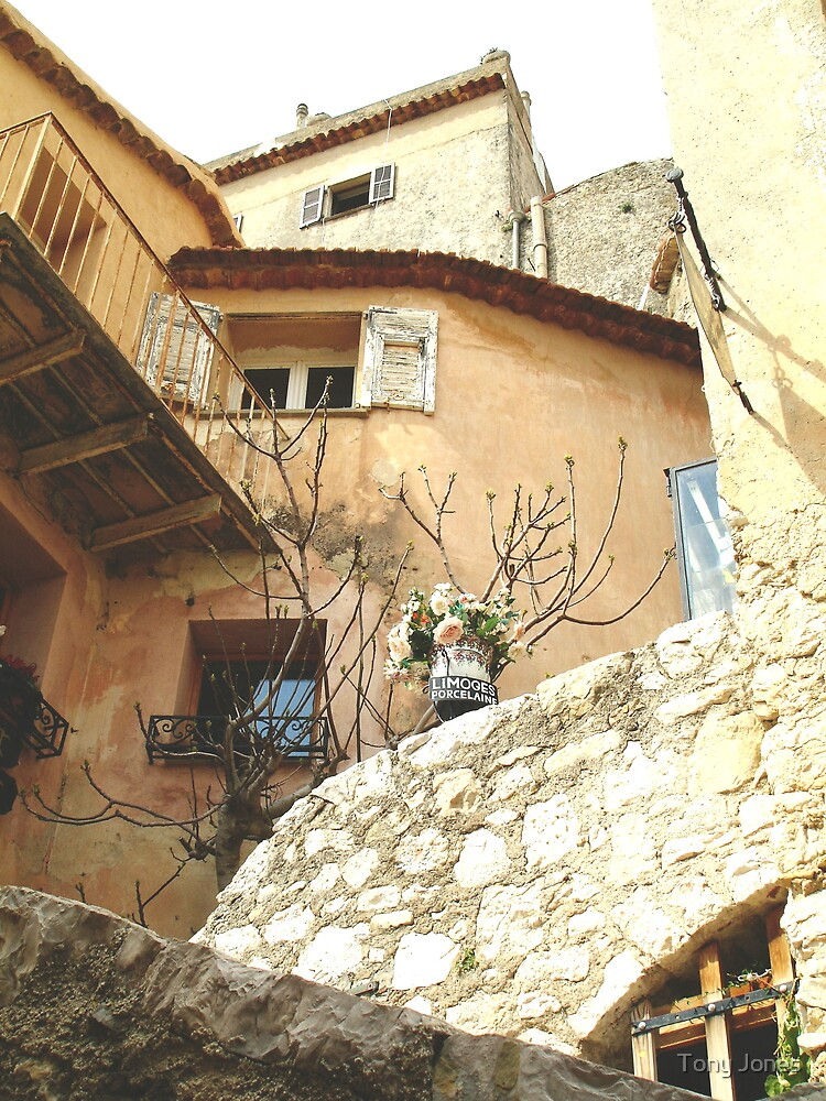Streets of Eze, Cote D'Azur, South of France by Tony Jones
