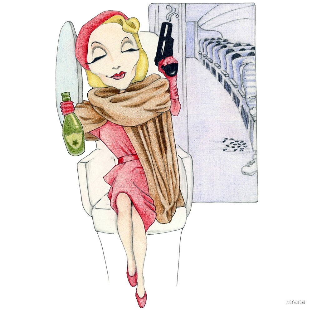 Shanghai Lil Editorial Illustration by Mariana Musa