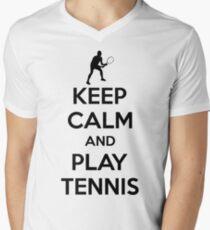 Keep calm and play tennis Men's V-Neck T-Shirt