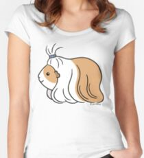 Guinea-pig Tail - long haired cavy Women's Fitted Scoop T-Shirt