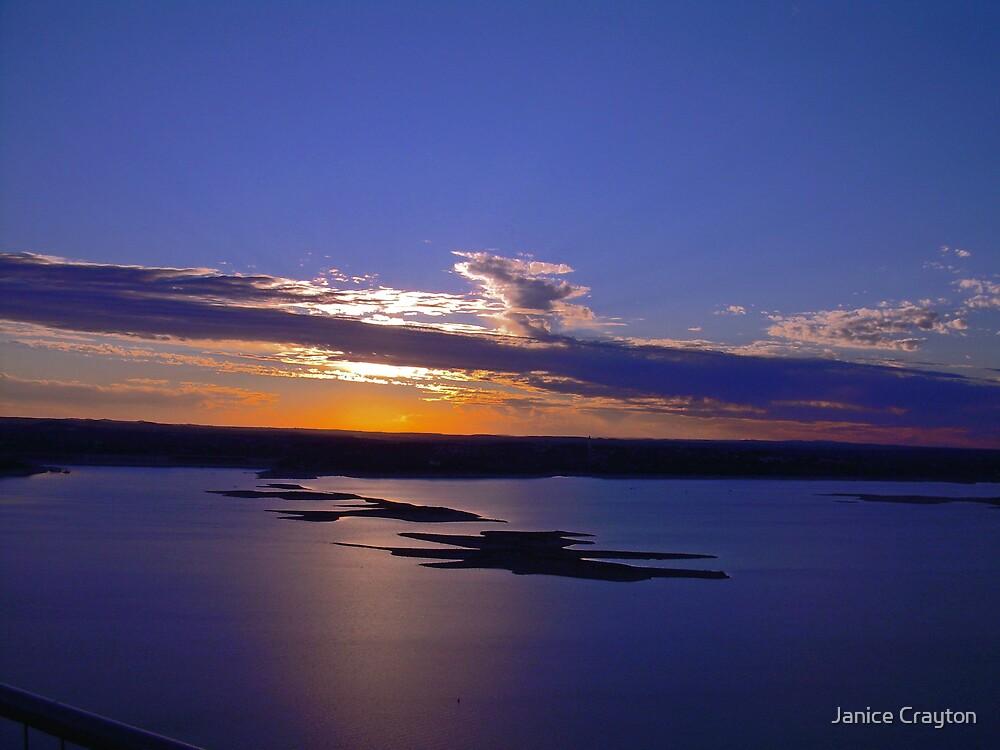 Lake Travis sunset by Janice Crayton