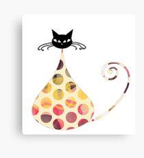 Cat Graphic Tshirt Illustration  Canvas Print