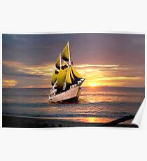Sunrise Ocean tweety Poster