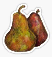 Pair of Pears Pretty Fruit Sticker