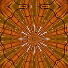 Psychedelic Orange Mandala by Zzenco