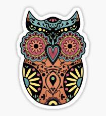 Sugar Skull Owl Sticker