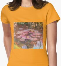 Claude Monet - Water Lilies 1917 Womens Fitted T-Shirt