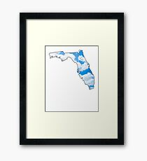 Florida State Clouds Framed Print