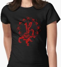 12 Monkeys - Terry Gilliam - Red on Black Womens Fitted T-Shirt