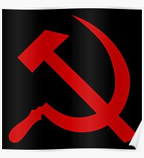 Communist Hammer And Sickle Poster