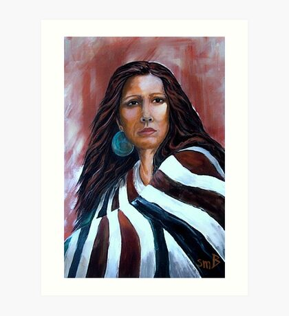 """""""Wrapped In Tradition, Naomi"""" Art Print"""