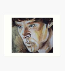 Benedict Cumberbatch Sherlock inspired fan art Art Print