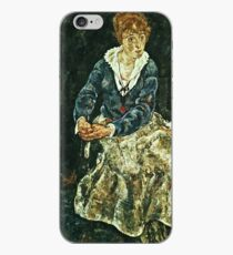 Egon Schiele - The Artists Wife Seated iPhone Case