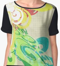 Abstract Modern Colorful Background Women's Chiffon Top