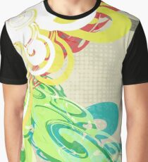 Abstract Modern Colorful Background Graphic T-Shirt