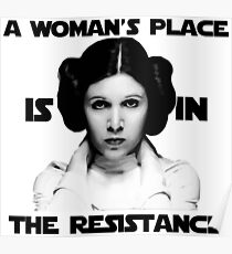 Der Platz einer Frau ist im Widerstand Poster