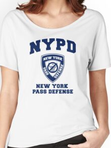NEW YORK PASS DEFENSE all blue Women's Relaxed Fit T-Shirt