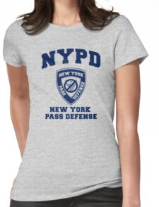 NEW YORK PASS DEFENSE all blue Womens Fitted T-Shirt