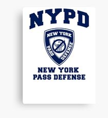 NEW YORK PASS DEFENSE all blue Canvas Print