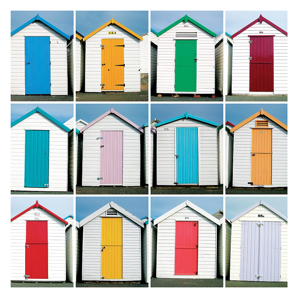 Beach Huts - Torquay, England by Biscuitboss