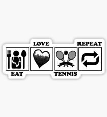 EAT LOVE TENNIS REPEAT Sticker