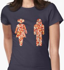 GONG TO A FANCY DRESS ON AN ARTSHIRT Women's Fitted T-Shirt