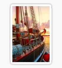 Hafen in Wismar Sticker