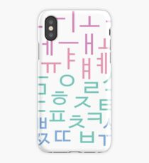 Hangul Letters - Korean Alphabet - kdrama kpop iPhone Case/Skin