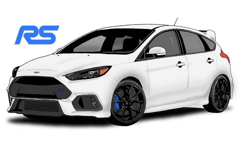 ford focus rs mk3 frozen white concept art by matt. Black Bedroom Furniture Sets. Home Design Ideas