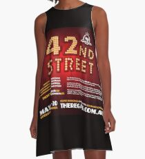 The Regals - 42ND STREET - Flyer A-Line Dress
