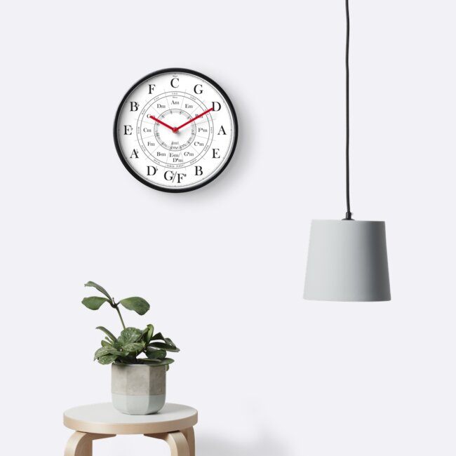 Circle of Fifths wall clock by Crabbit Creations