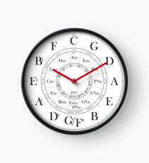 Circle of Fifths wall clock Clock