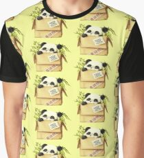 Panda In The Box Graphic T-Shirt