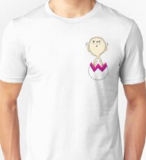 Surprised Easter Sheep comes out from pocket Unisex T-Shirt