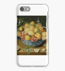 Jacob van Hulsdonk (Antwerp, ), Still Life with Lemons, Oranges and a Pomegranate iPhone Case/Skin