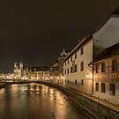 The River Reuss in Luzern at night  by BeardyGit