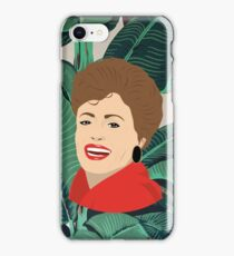 The Golden Girls - Blanche with banana leaf pattern iPhone Case/Skin