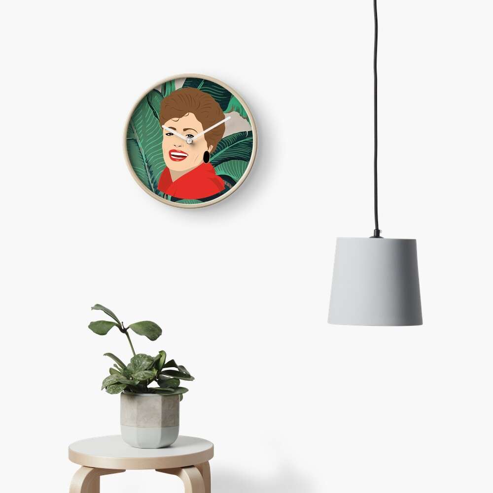 The Golden Girls - Blanche with banana leaf pattern Clock
