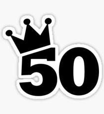 Crown 50th birthday Sticker