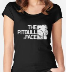 The Pitbull Face Women's Fitted Scoop T-Shirt
