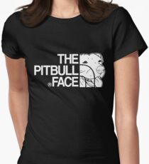 The Pitbull Face Womens Fitted T-Shirt