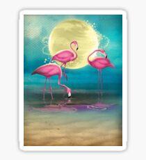 Pretty Flamingo's. Sticker