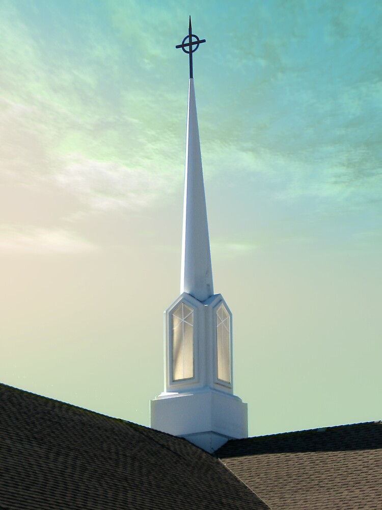 Steeple Morning 2 by Wendy J. St. Christopher