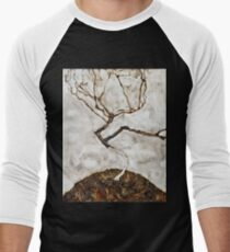Egon Schiele - Small Tree In Late Autumn (1911) Men's Baseball ¾ T-Shirt