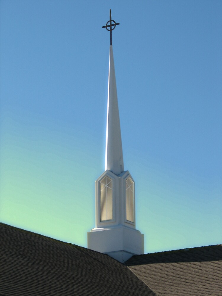 Steeple Morning 1 by Wendy J. St. Christopher